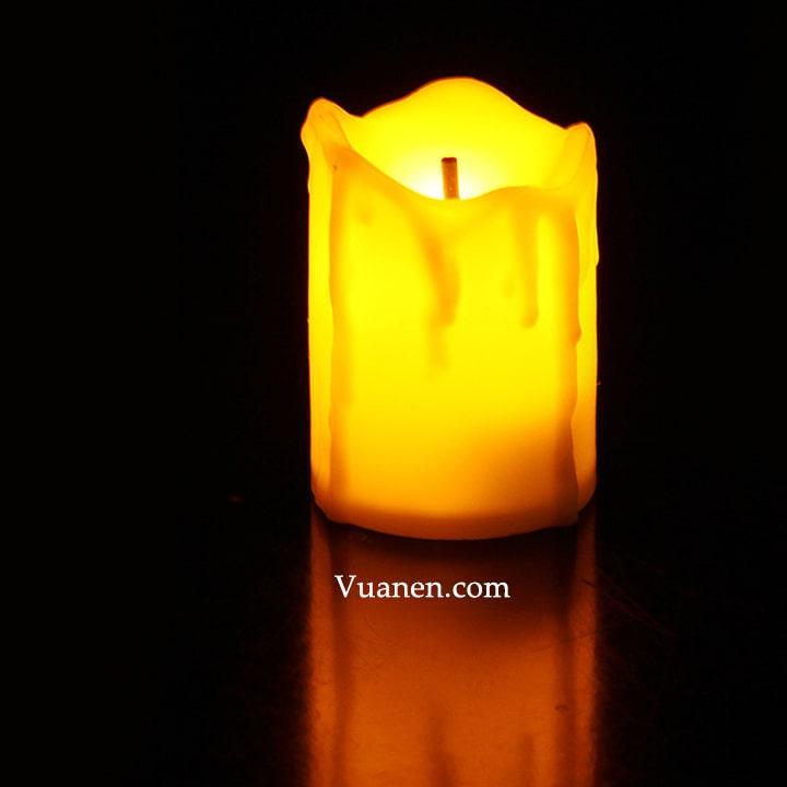 Nến tealight điện tử mini cháy sáng trong tối
