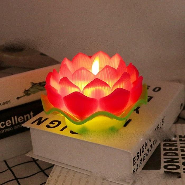 nến tealight thờ cúng hình hoa sen
