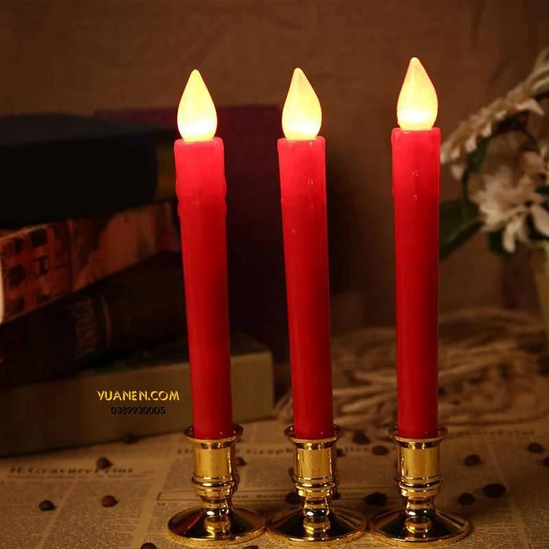 nến bàn thờ màu đỏ