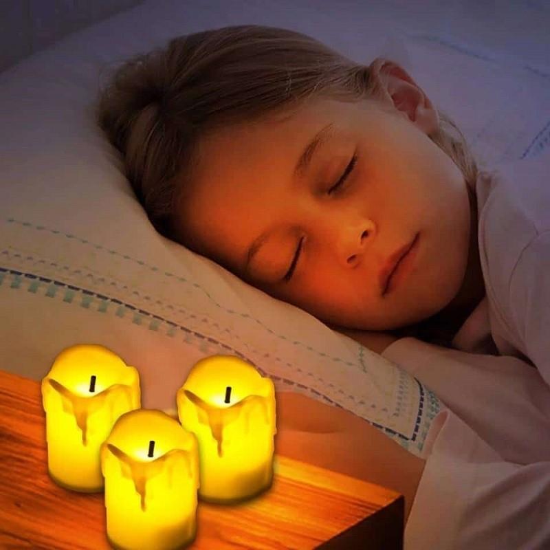 nến tealight an toàn cho trẻ nhỏ và gia đình