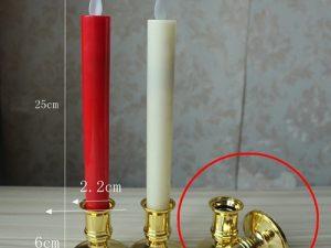 Nến điện tử để bàn thờ có chân đế cao 25cm