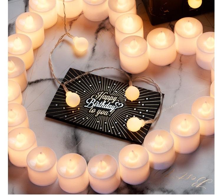 trang trí sinh nhật bằng nến điện tử tealight