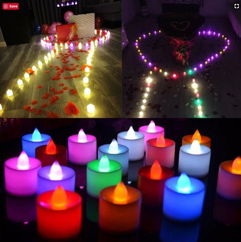 Hướng dẫn trang trí sinh nhật bằng nến điện tử tealight