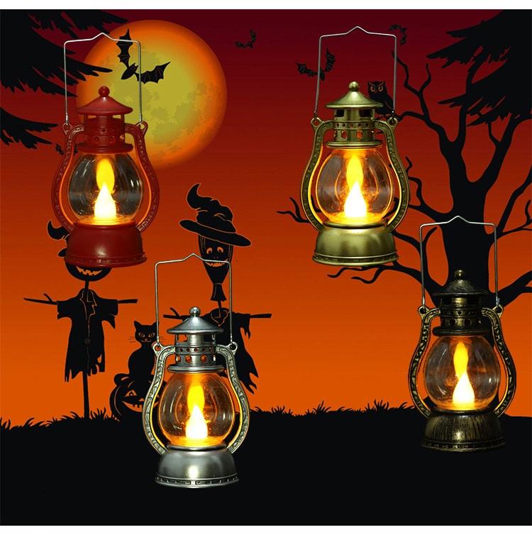 công dụng của nến điện tử trong trang trí Halloween