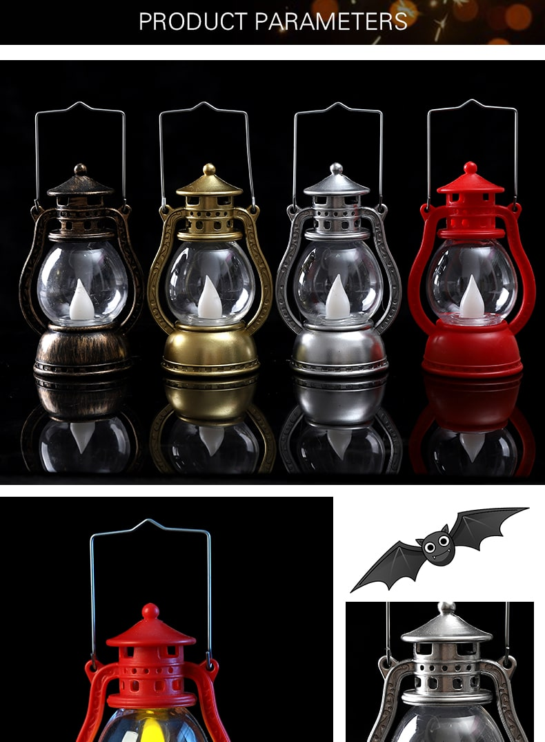 mẫu Đèn nến điện tử Halloween sáng mạnh trong đêm tối