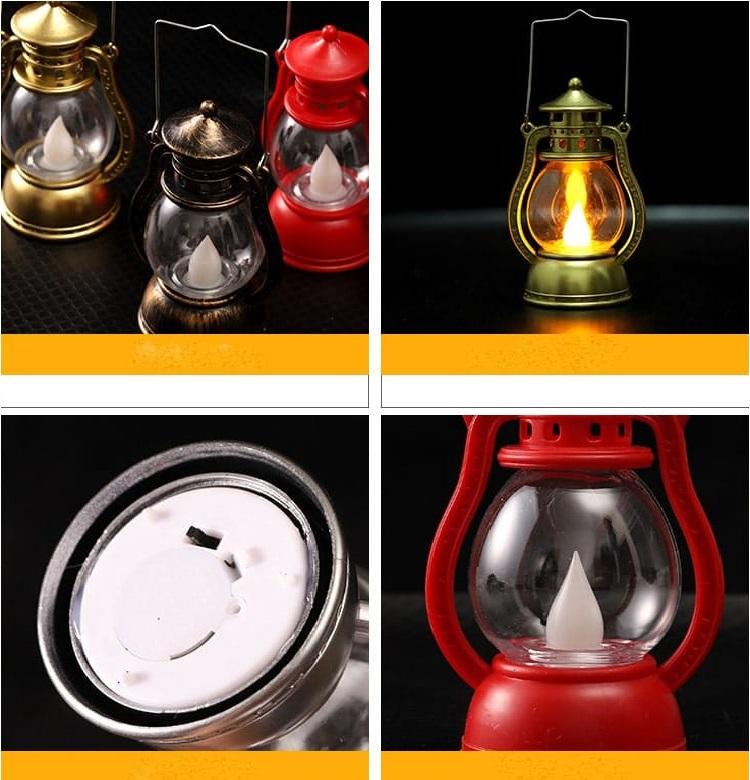 Đèn nến điện tử trang trí Halloween sử dụng pin trong suôt quá trình phát sáng