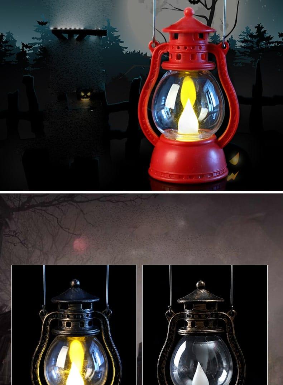 Đèn nến điện tử trang trí Halloween ánh sáng màu vàng