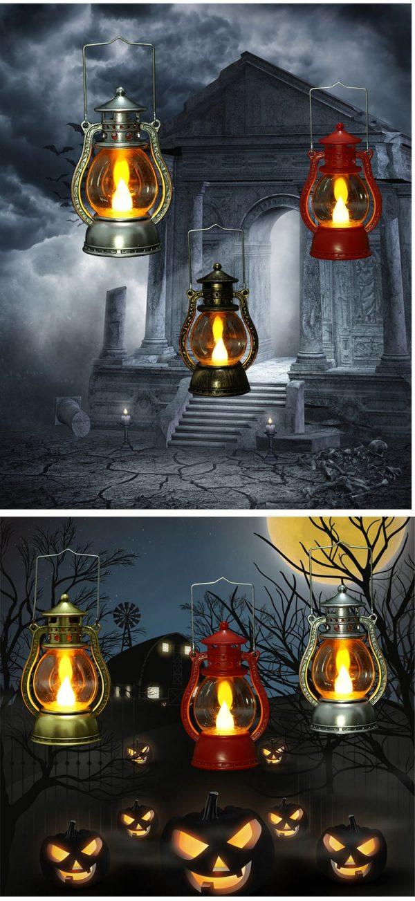 Halloween dầu hỏa đèn ma ám trang trí nhà đèn ma lễ hội