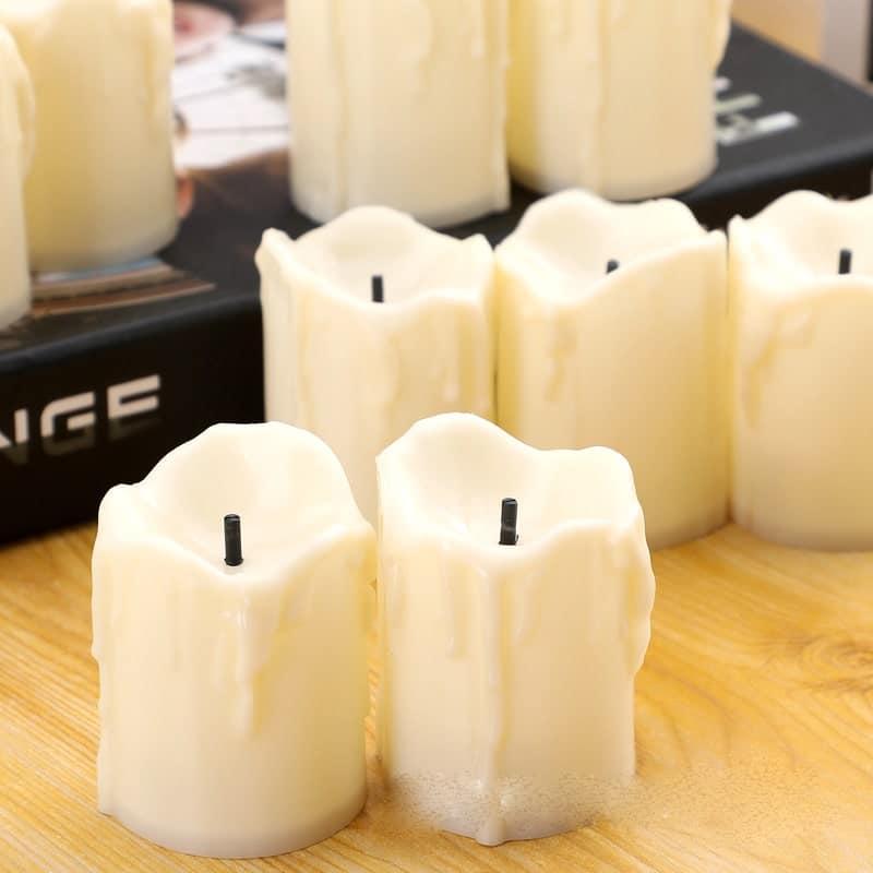 Nến điện tử led kiểu sáp chảy bằng nhựa