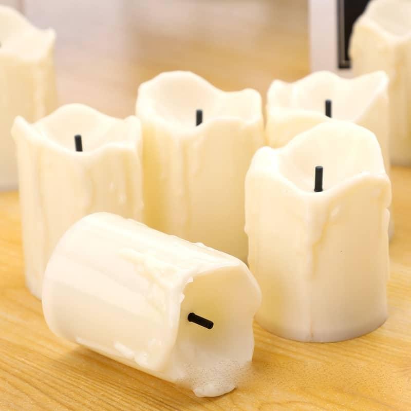 Nến điện tử led kiểu sáp chảy bằng nhựa hộp nến điện tử nhỏ 12 chiếc