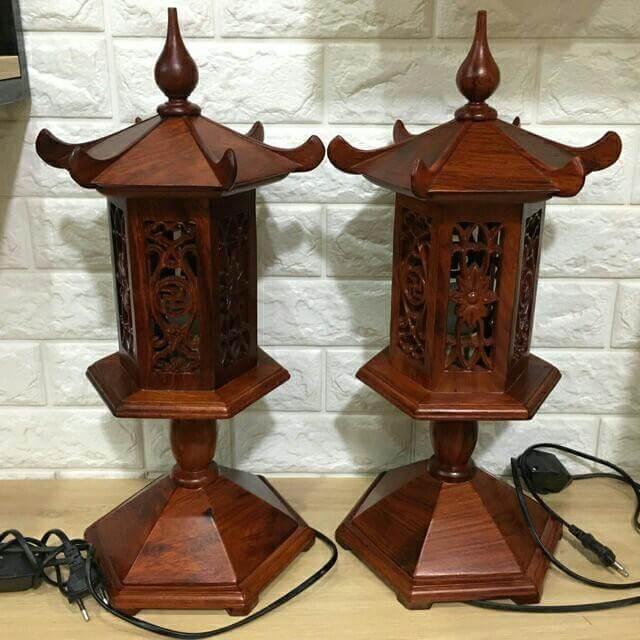 mẫu đèn thờ làm bằng gỗ rất đẹp