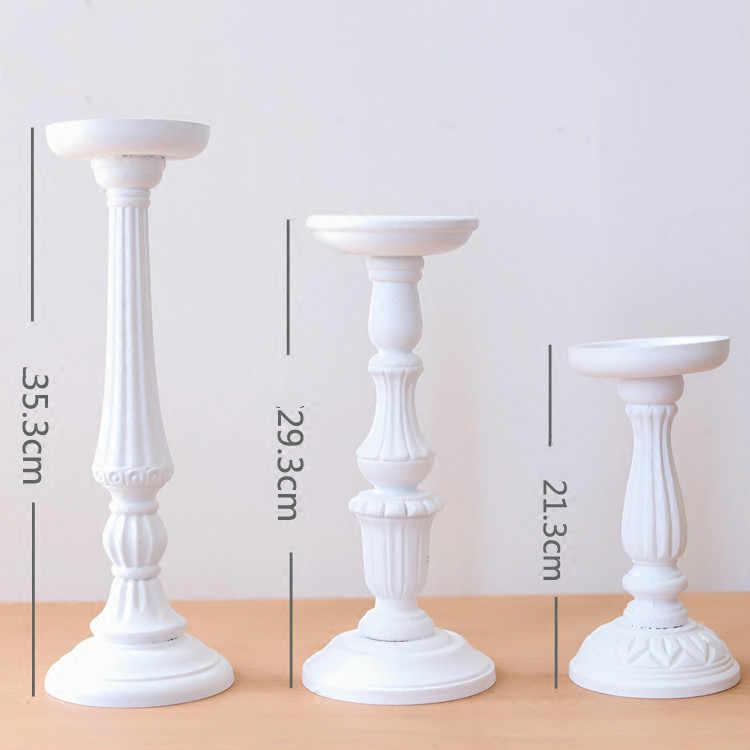 mẫu chân nến nhiều kích thước màu trắng