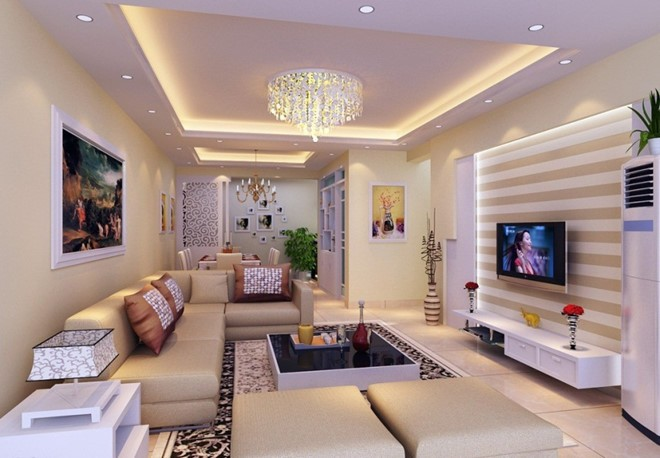 Đèn chùm phòng khách nhỏ trang trí không gian