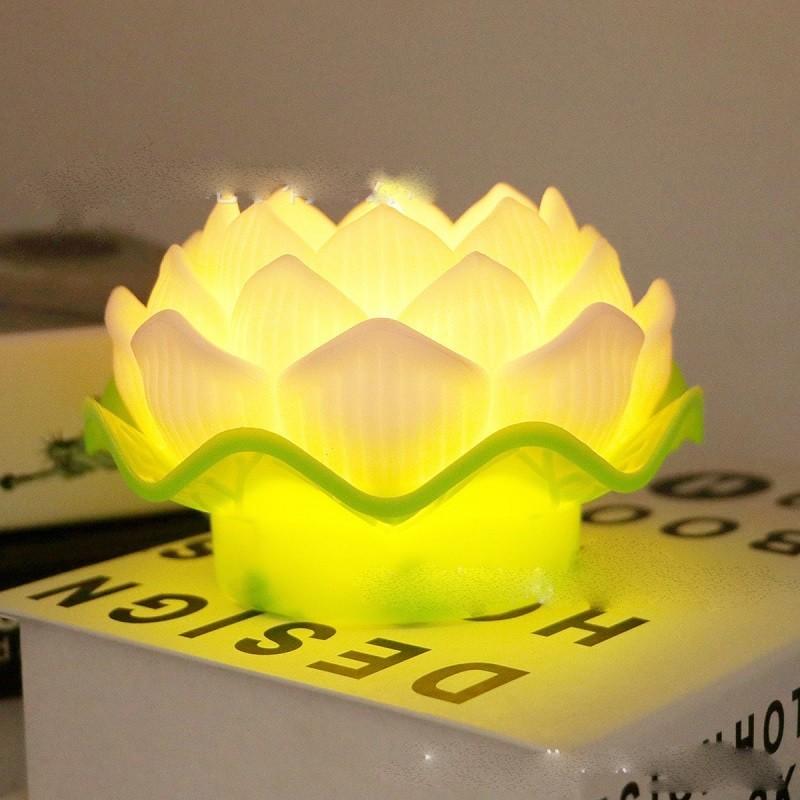 Mẫu đèn thờ hoa sen