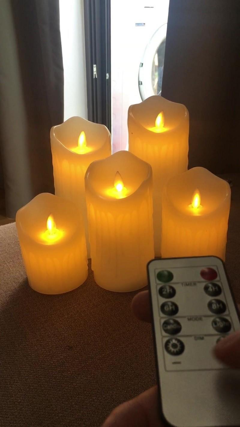 mẫu nến sáp có điều khiển ánh sáng