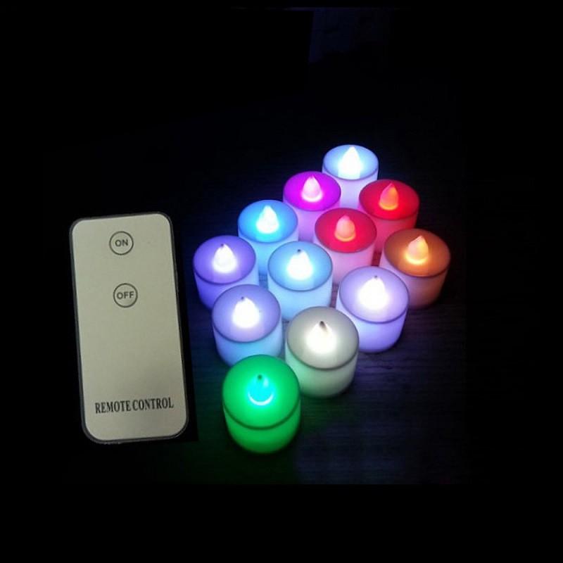nến điện tử mini đẹp nhất với ánh sáng đổi mầu