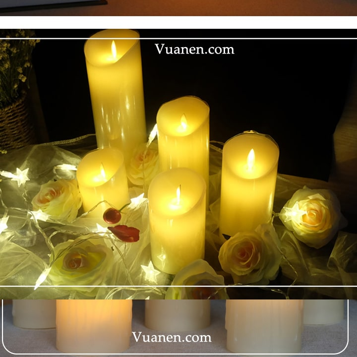 mẫu nến trang trí ánh sáng đẹp