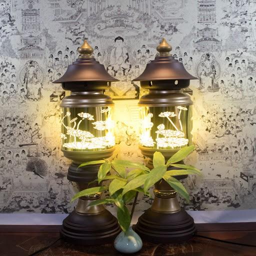 đèn điện thắp sáng thời gian lâu
