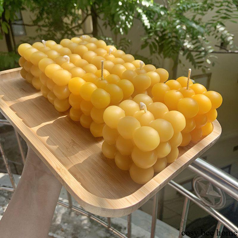 nến sáp ong 3d Cube  mang đến màu sắc khác nhau